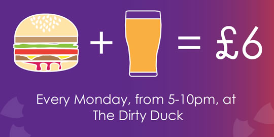 Burger and a Pint for £6