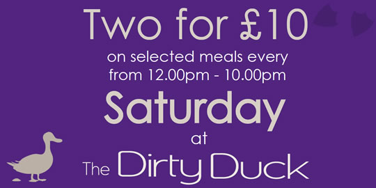 Two for £10 on selected meals