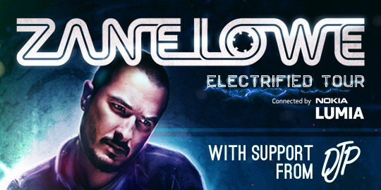 ZANE LOWE - ELECTRIFIED TOUR! ***SOLD OUT***