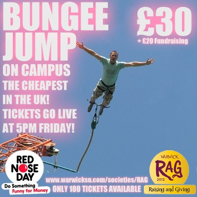 Campus Bungee Jump for Comic Relief