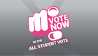 Vote now in the All Student Vote