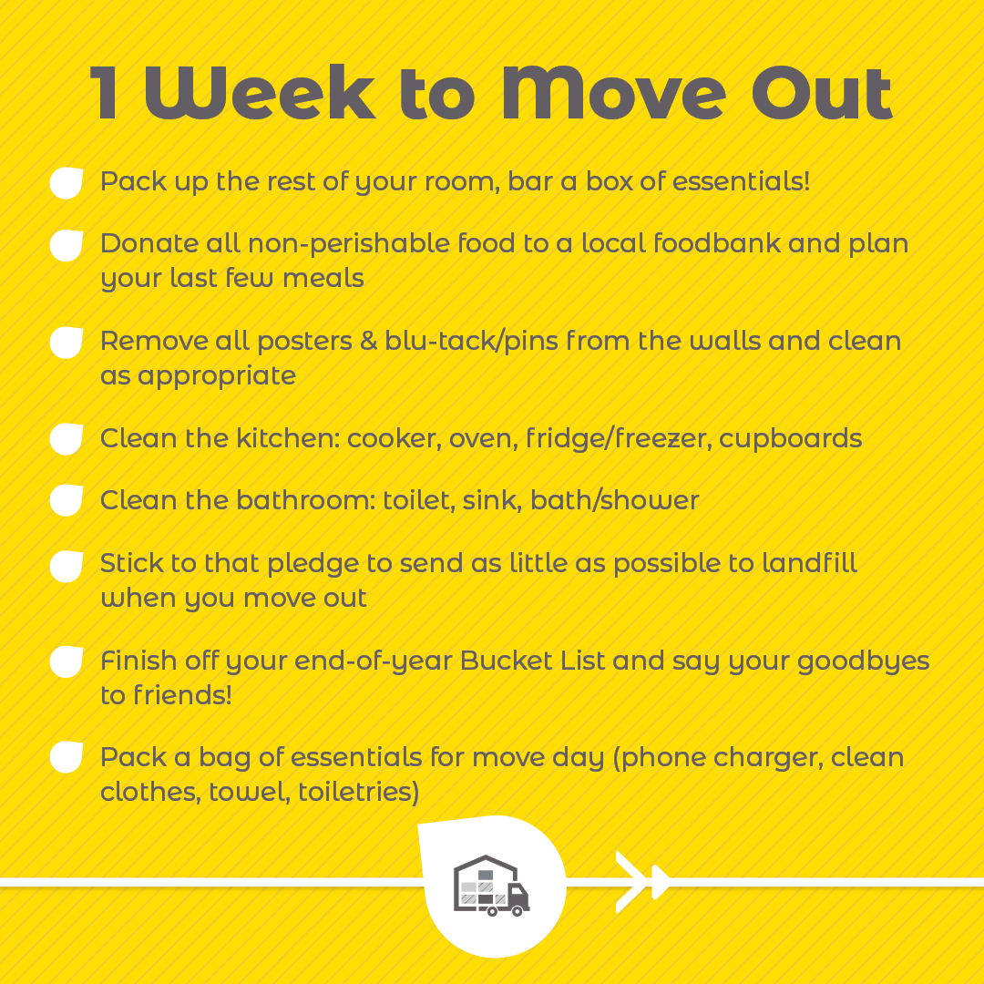 1 Week To Move Out checklist