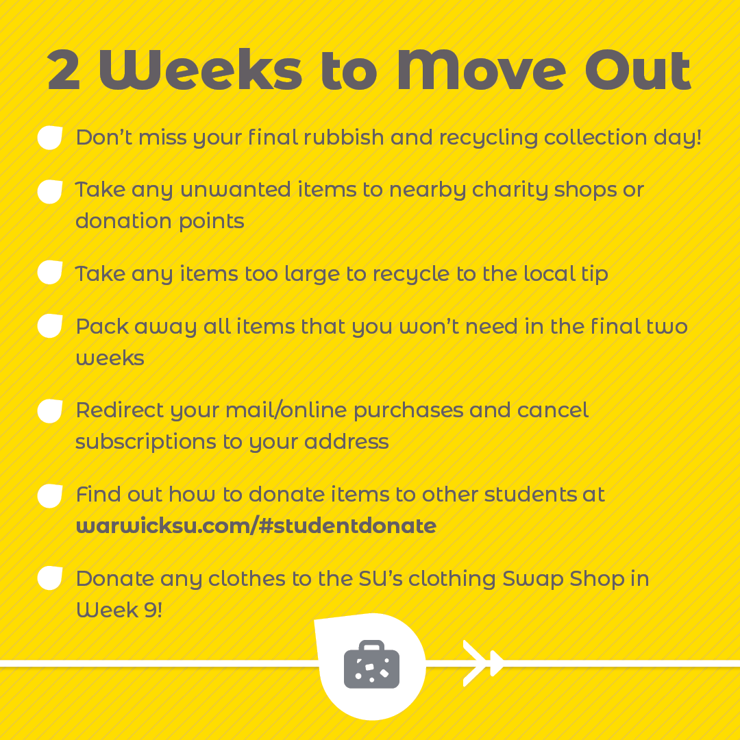 2 Weeks To Move Out checklist