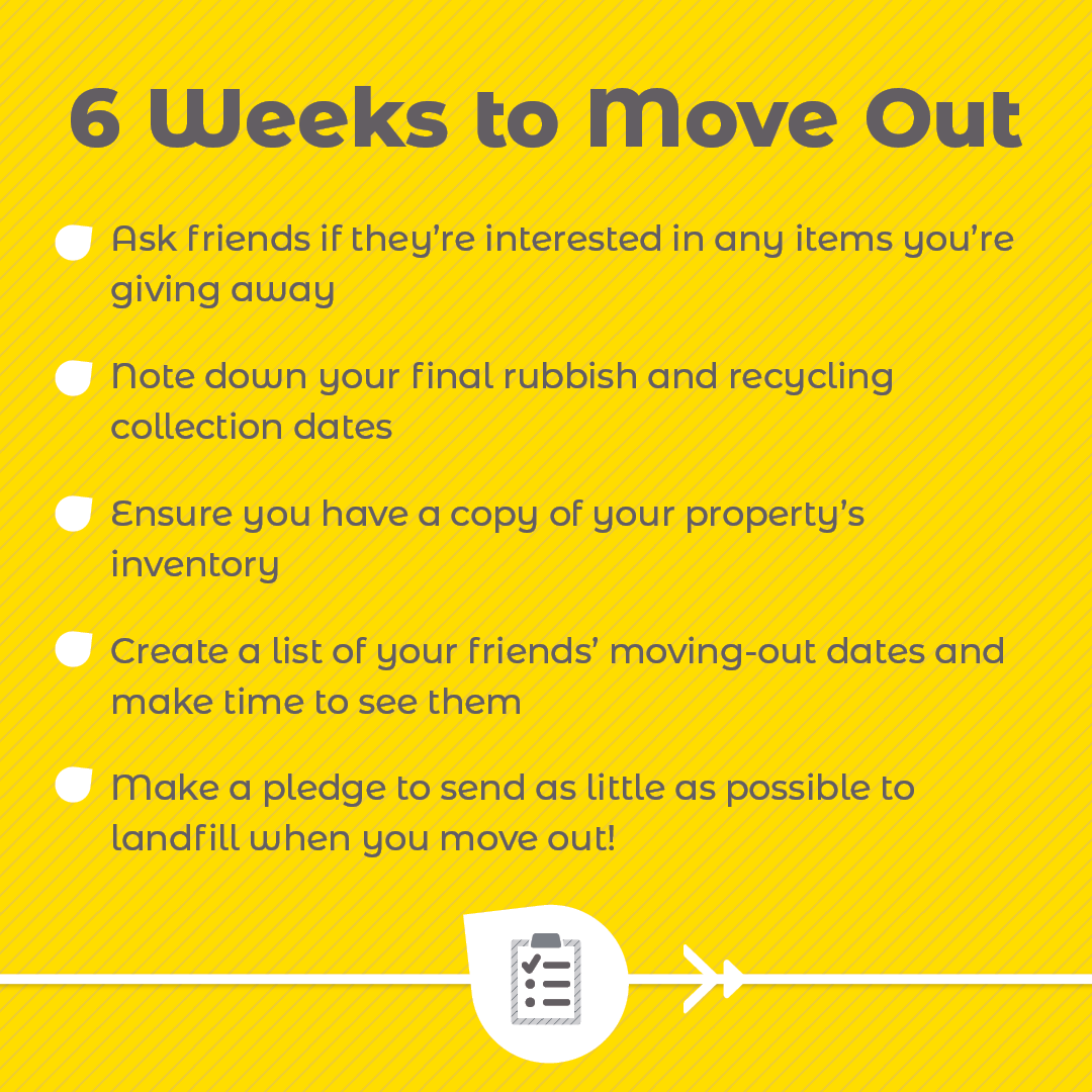 6 Weeks To Move Out checklist
