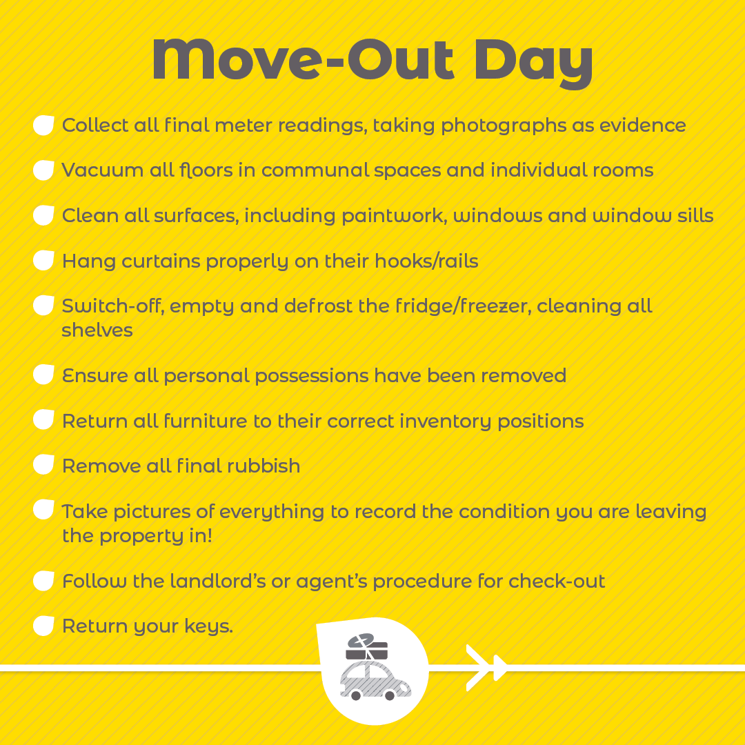 Moving out day checklist