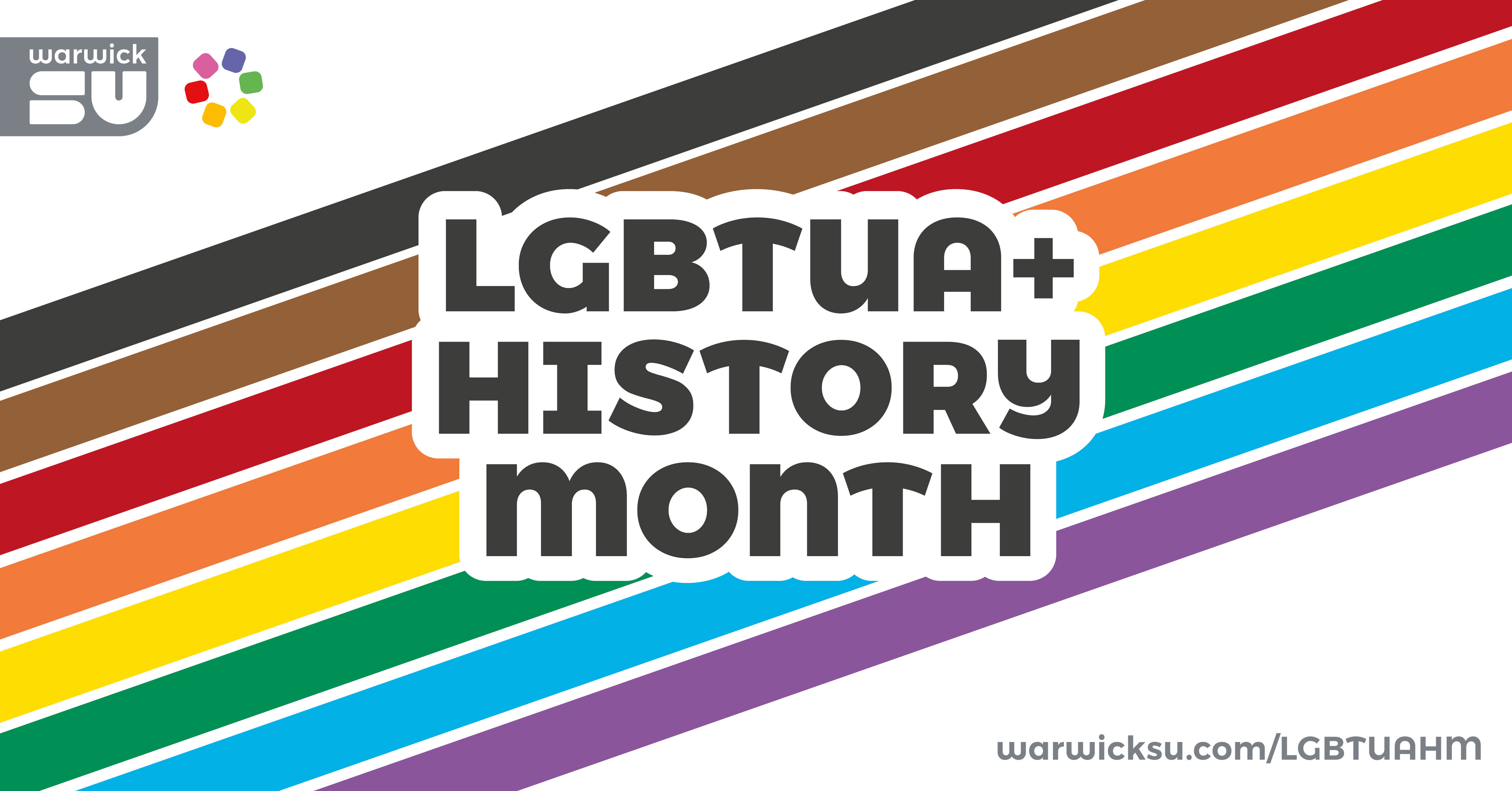 LGBTUA+ history month banner