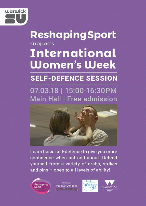 Self-defence class flyer