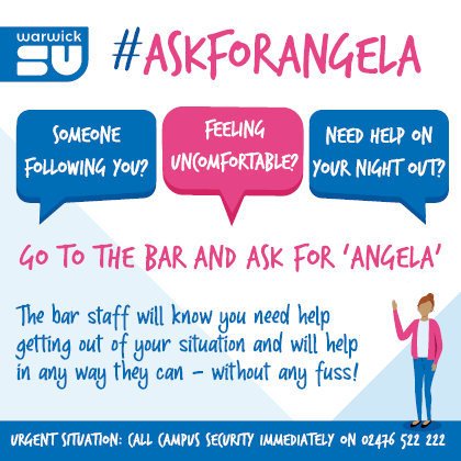 Ask for Angela sticker