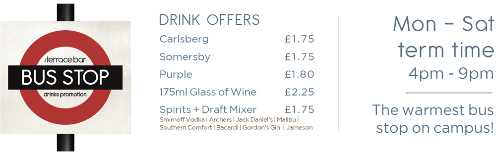 Bus Stop - Drink Offers - 4pm to 9pm